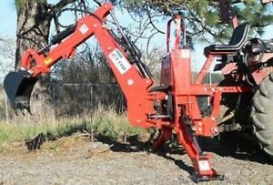 Tractor Backhoe 7 dig 3 pt Self Contained Pto Powered Cat i 30hp fh bh7