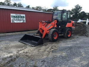 2016 Kubota R530 4x4 Compact Wheel Loader W Cab Coupler Only 3700 Hours