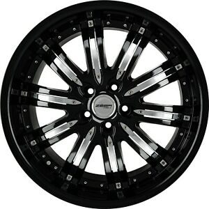 4 G22 Narsis 20 Inch Black Rims 20x10 Fits Dodge Avenger Sxt Rt 2008 2010