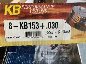 New Kb153 030 Sbc 305 Pistons And Used Eagle Rods 6
