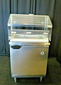 Beverage Air 27 Refrigerated Prep Table Condiments Station W Sneeze Guard