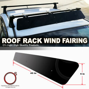 43 Low Profile Wind Fairing Cross Bar Noise Reduce Rooftop Mounting Fit Bmw