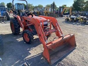 2010 Kubota L3400 Compact Tractor 35 Hp 4wd Gear Trans Ag Tires 1104 Hours