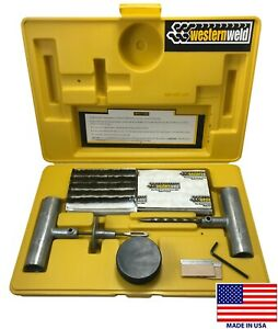66 Western Weld Heavy Duty Flat Tire Repair Tool Kit Plug Patch Car Truck Usa