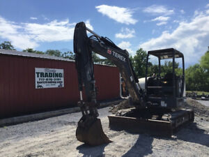 2014 Terex Tc50 Hydraulic Mini Excavator Job Ready Only 2200 Hours