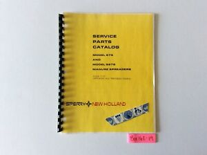 New Holland 676 And S676 Manure Spreaders 7 77 Service Parts Catalog