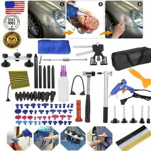 99pc Auto Paintless Dent Removal Kit Repair Ding Dent Hail Puller Tabs Tool Us