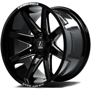 4 New 24x14 Axe Artemis Gloss Black 6x135 6x5 5 Et 76 Wheels Ford Chevy Gmc