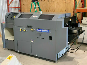 Duplo Dpb 500 Single clamp Perfect Binder With Cover Feeder Bourg horizo