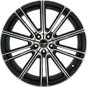 4 G35 Flow 20 Inch Black Rims 20x10 Fits Dodge Avenger Sxt Rt 2008 2010