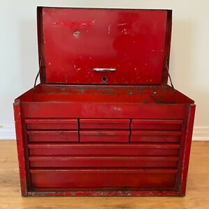 Vintage Snap On 9 drawer Tool Chest Box Cabinet Kra 59 Red southern California