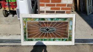 Gorgeous Victorian Stained Glass Window 44 By 27