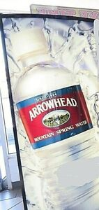 New Arrowhead Water side Decal For Soda Vending Machines Or Coolers 79 By 17