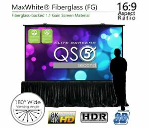 Elite Screen Qs180hd Quickstand 5 second Series 180 16 9 Projector Screen