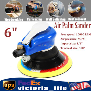 6 Air Palm Orbital Sander Polisher Dual Action Sanding Tool Pneumatic Round