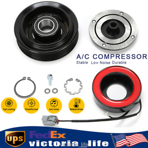 A c Air Compressor Clutch Pulley Plate Coil Kit For Honda Accord 03 07 2 4l New
