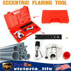 Eccentric Flaring Tool Kit W t bar Handle For 3 16 3 4 Copper Aluminum Pipe