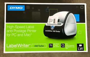 Dymo Labelwriter 450 Turbo Direct Thermal Printer Monochrome Gray Label Pr