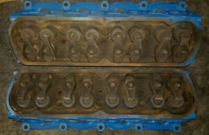 Oem 1969 Ford 302 Cylinder Heads Complete With Valve Train Code C9te