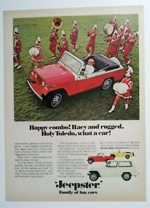 1967 Jeepster Convertible Ad Must See Marching Band Tuba Drum Saxophone