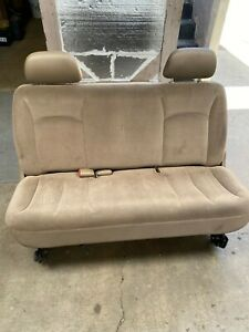 Chrysler Dodge Third Row Bench Seat Adjustable Has Rollers And Tracks