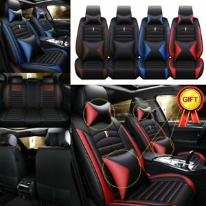 Universal Car Interior Luxury Seat Covers 5 sit Pu Leather Front Rear Auto Cover