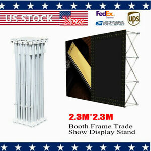 Portable Pop up Booth Frame Trade Show Display Stand 7 5x7 5ft Good Quality
