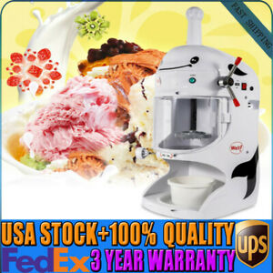 Electric Ice Shaver Machine Snow Cone Maker Automatic Ice Crusher Shaving 110v