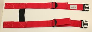 Nos Firefighter Suspenders Red Padded H Style Inno Tex Hbp s Turnout Gear
