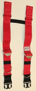 Firefighter Suspenders Red Padded H Style Inno Tex Hbp s Turnout Gear Nos