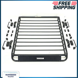 Roof Rack Basket Jeep Grand Cherokee Vehicle Cargo Carrier Outback Hauler 150 Lb