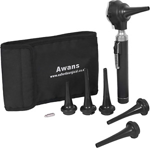 Awans Veterinary Compact Pen Otoscope Led Torch With Spare Bulb And Accessorie