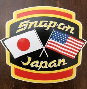 Vintage 1992 Snap On Tools Japan 5x5 Decal Sticker Nos Super Rare