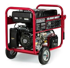 Gentron 8 000w 10 000w Portable Gas Powered Generator With Electric Start