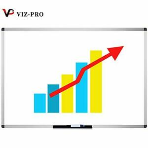 Viz pro Dry Erase Board whiteboard Non magnetic 72 X 40 Inches Wall Mounted B