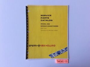 New Holland 489 Mower Conditioner 12 81 Service Parts Catalog