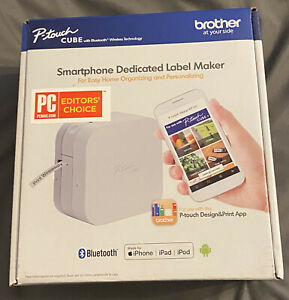 Brother P touch Cube Smartphone Dedicated Label Maker New Pt p300bt 012502643975