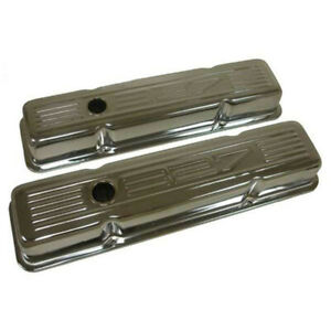 Chevy Small Block Chrome Valve Covers With 327 Logo Short 1958 1986 50 310165 1