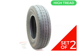 Set Of 2 Used 235 75r16 Goodyear Wrangler St 106s 11 32