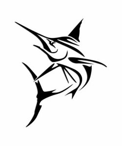 Die Cut Vinyl Decal Swordfish Fishing Ocean Colors Sizes Car Truck Boat 497
