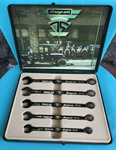 Snap On Ltd Edition 75th Anniversary 5 Piece Black Gold Wrench Set New In Box