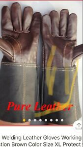 Sefety Welding Pure Leather Gloves Size Xl