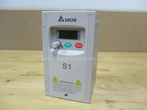 Delta Inverter Vfd002s11a Ac Variable Frequency Drive S1 1 4hp 0 2kw 110v