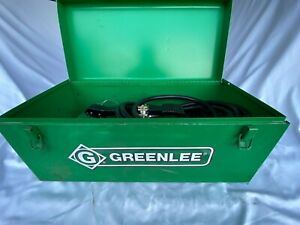 Greenlee 7625 Punch Driver Kit W 1725 Hydraulic Foot Pump And Ten Punches dies