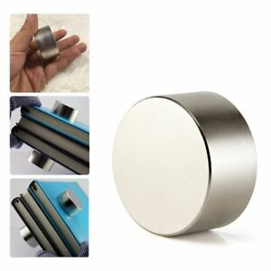 Large N52 40mm 20mm Super Strong Neodymium Round Rare Earth Fridge Magnets Thick