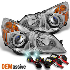 Fit 10 12 Subaru Legacy Outback Clear Headlights Replacement 8000k Hid