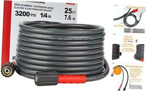 Yamatic Flex Improve 3200psi X 25ft Pressure Washer Hose Fit Most Gas Power Was
