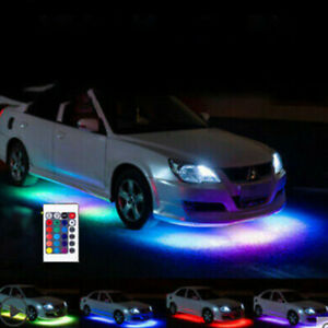 For Car Truck Interior Decor Neon Atmosphere Led Light Strip Rgb Colors Remote