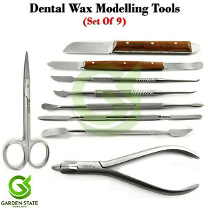 Dental Universal Plier Wax Modelling Spatula Carver Knife Iris Scissors Lab Kit
