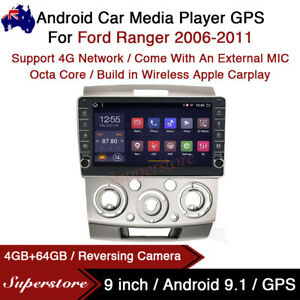 9 Android 9 1 Car Stereo Non dvd Gps Radio Head Unit For Ford Ranger 2006 2011